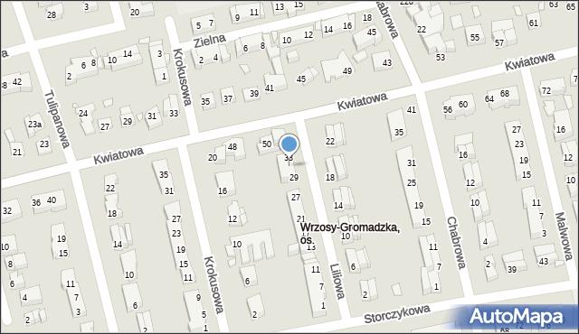 Toruń, Liliowa, 31, mapa Torunia