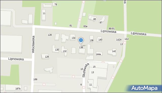 Toruń, Lipnowska, 136, mapa Torunia