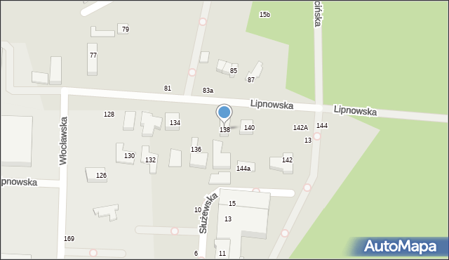 Toruń, Lipnowska, 138, mapa Torunia