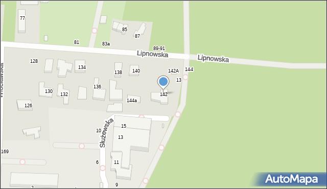 Toruń, Lipnowska, 142, mapa Torunia