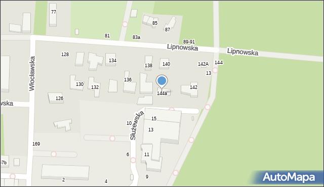 Toruń, Lipnowska, 144a, mapa Torunia