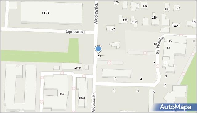 Toruń, Lipnowska, 169, mapa Torunia