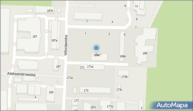 Toruń, Lipnowska, 169a, mapa Torunia