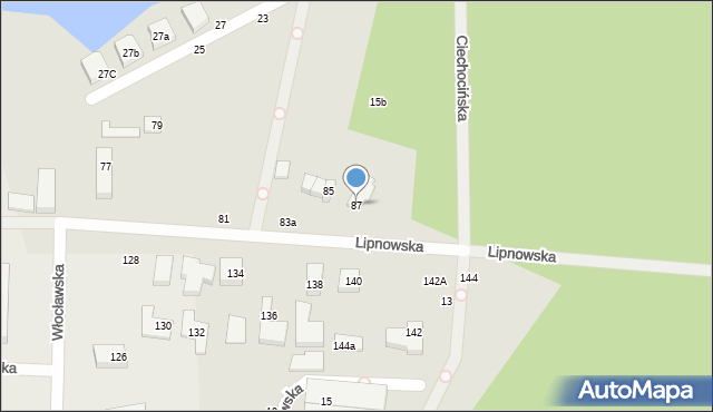 Toruń, Lipnowska, 87, mapa Torunia
