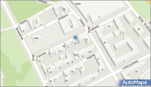 Warszawa, Lipowa, 3, mapa Warszawy