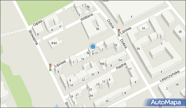 Warszawa, Lipowa, 5, mapa Warszawy