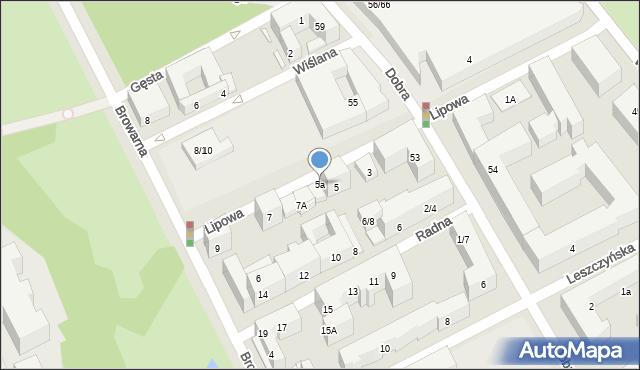 Warszawa, Lipowa, 5a, mapa Warszawy