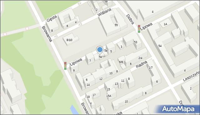 Warszawa, Lipowa, 7A, mapa Warszawy