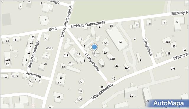 Warszawa, Listopadowa, 4, mapa Warszawy