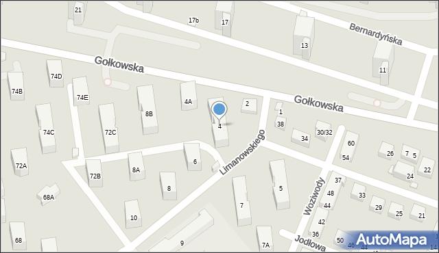 Warszawa, Limanowskiego Bolesława, 4, mapa Warszawy