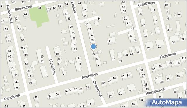 Toruń, Lniana, 10, mapa Torunia