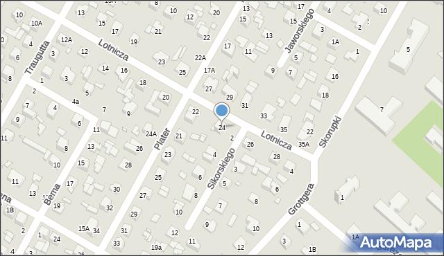 Chełm, Lotnicza, 24, mapa Chełma