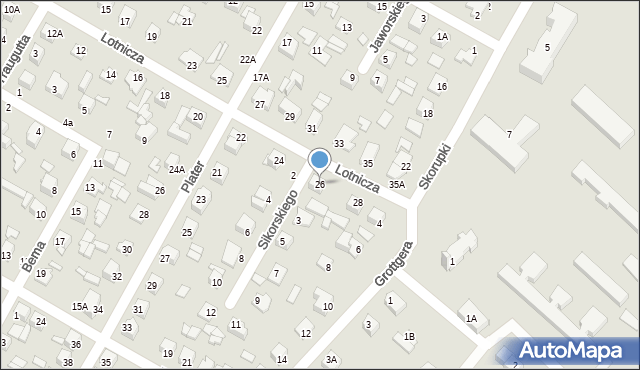 Chełm, Lotnicza, 26, mapa Chełma