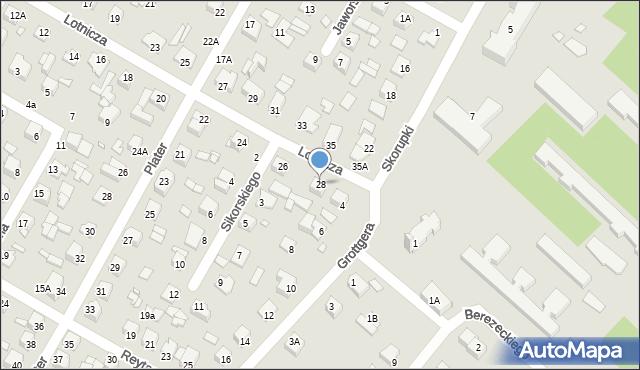 Chełm, Lotnicza, 28, mapa Chełma