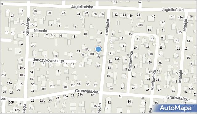 Chełm, Łowiecka, 10, mapa Chełma
