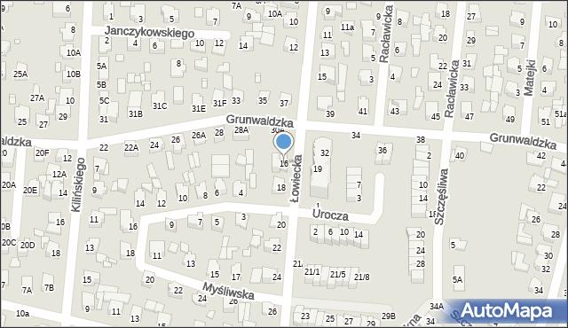 Chełm, Łowiecka, 16, mapa Chełma
