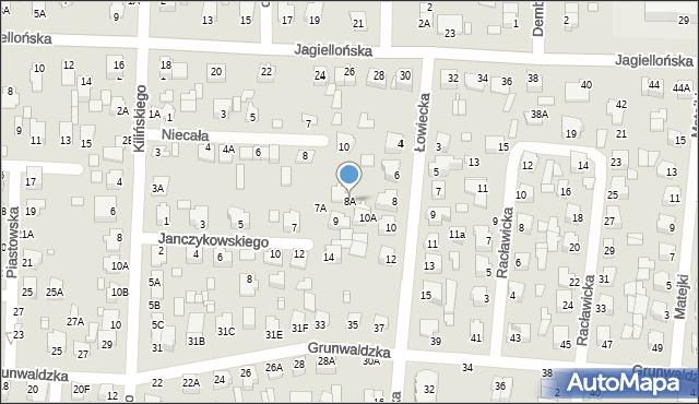 Chełm, Łowiecka, 8A, mapa Chełma