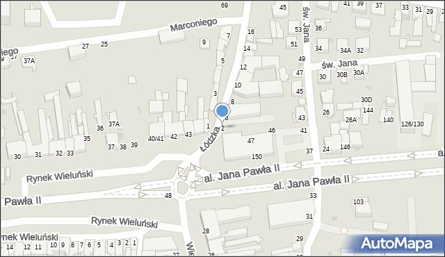 Częstochowa, Łódzka, 2, mapa Częstochowy