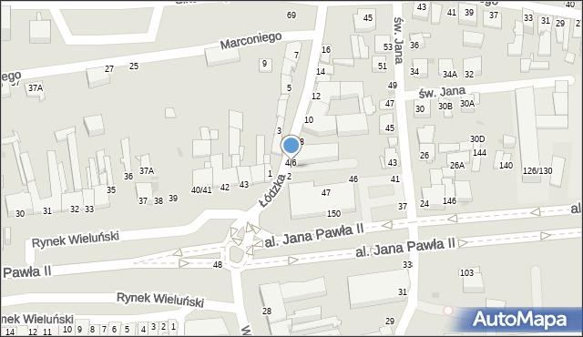 Częstochowa, Łódzka, 4, mapa Częstochowy