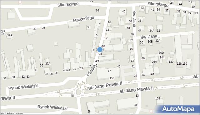 Częstochowa, Łódzka, 6, mapa Częstochowy