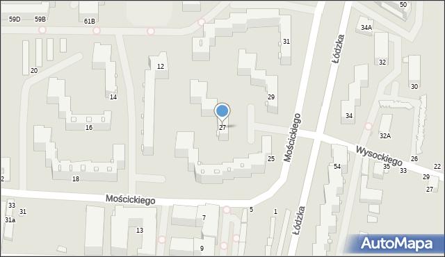 Częstochowa, Łódzka, 27, mapa Częstochowy
