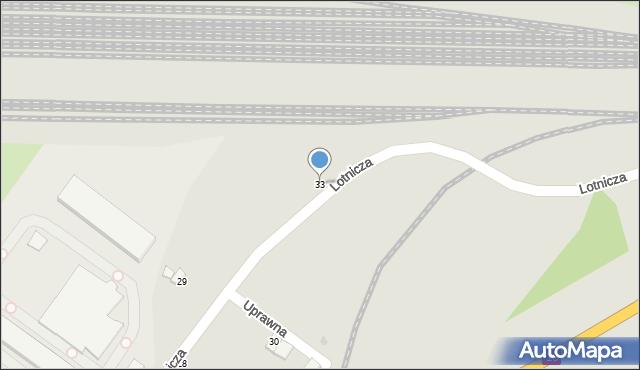 Grudziądz, Lotnicza, 33, mapa Grudziądza