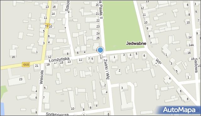 Jedwabne, Łomżyńska, 1, mapa Jedwabne