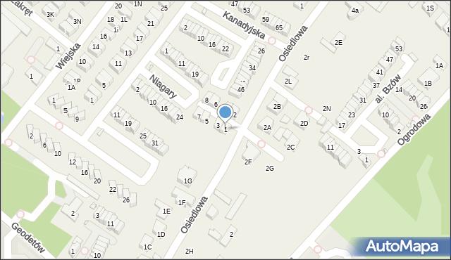 Józefosław, Londyńska, 1, mapa Józefosław