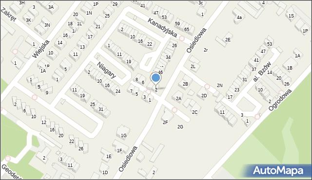 Józefosław, Londyńska, 2, mapa Józefosław