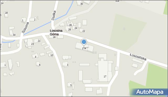 Limanowa, Łososińska, 17A, mapa Limanowa