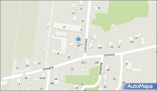 Łódź, Łomnicka, 4a, mapa Łodzi
