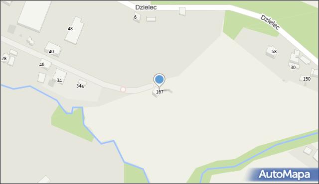 Łososina Górna, Łososina Górna, 167, mapa Łososina Górna