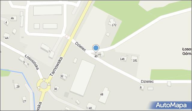 Łososina Górna, Łososina Górna, 40a, mapa Łososina Górna