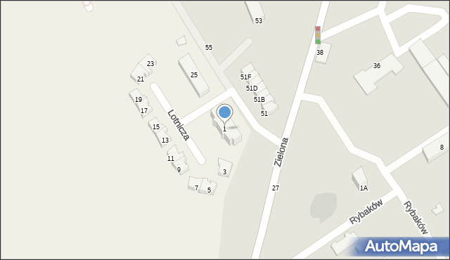 Pogórze, Lotnicza, 1, mapa Pogórze