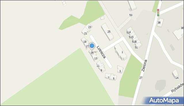 Pogórze, Lotnicza, 15, mapa Pogórze