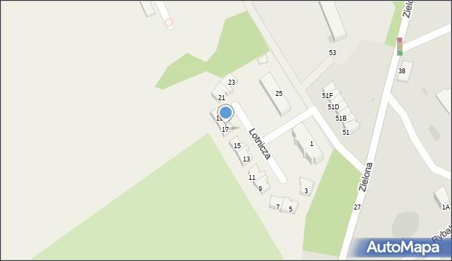 Pogórze, Lotnicza, 17, mapa Pogórze