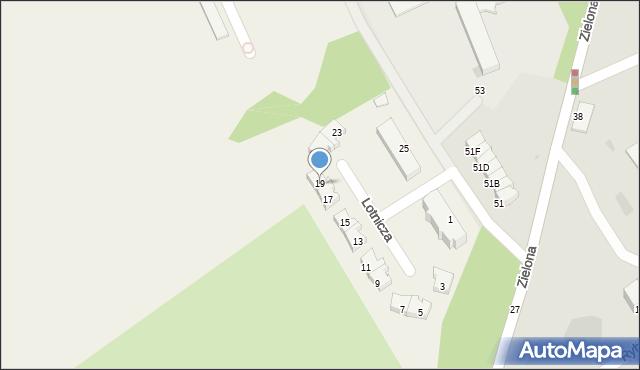 Pogórze, Lotnicza, 19, mapa Pogórze