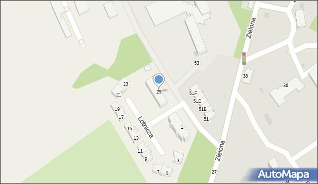 Pogórze, Lotnicza, 25, mapa Pogórze