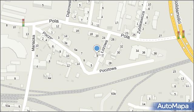 Przemyśl, Łozowa, 3, mapa Przemyśla