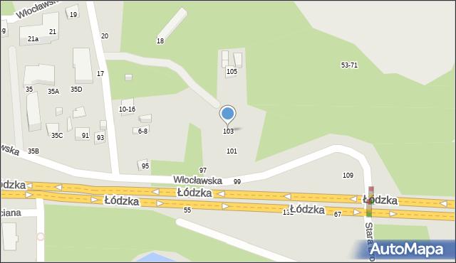 Toruń, Łódzka, 103, mapa Torunia