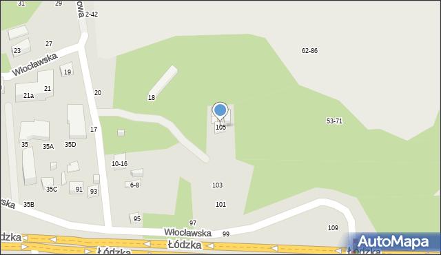 Toruń, Łódzka, 105, mapa Torunia