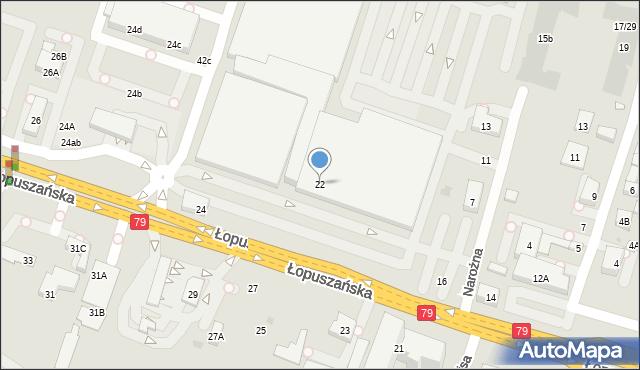 Warszawa, Łopuszańska, 20A, mapa Warszawy