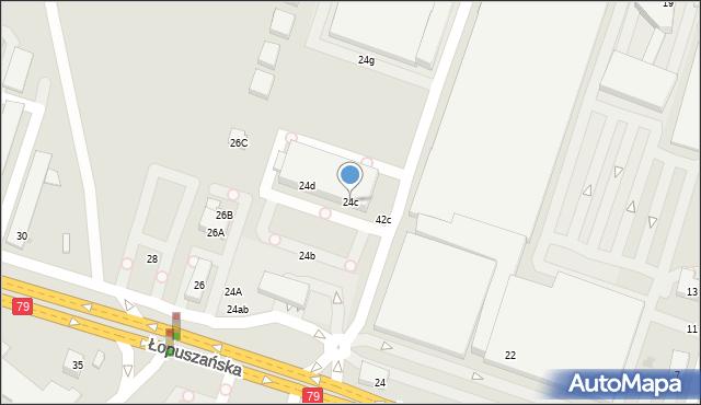 Warszawa, Łopuszańska, 24c, mapa Warszawy