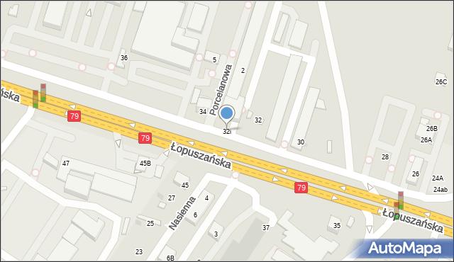 Warszawa, Łopuszańska, 32i, mapa Warszawy