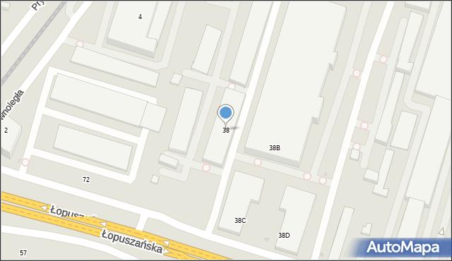 Warszawa, Łopuszańska, 38a, mapa Warszawy