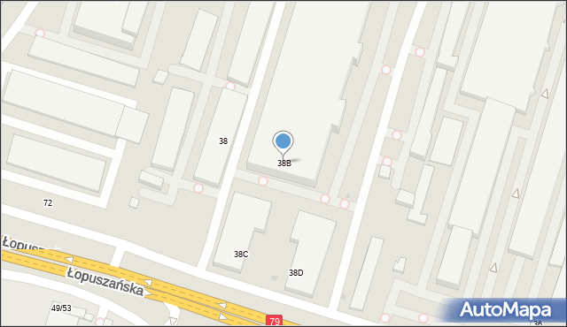 Warszawa, Łopuszańska, 38B, mapa Warszawy
