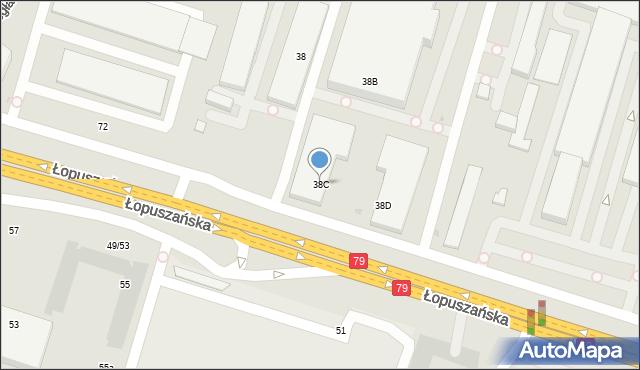 Warszawa, Łopuszańska, 38C, mapa Warszawy