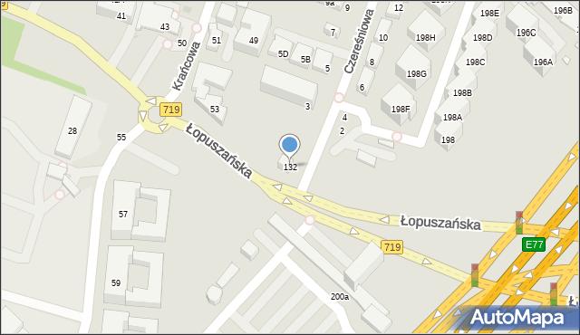 Warszawa, Łopuszańska, 195c, mapa Warszawy