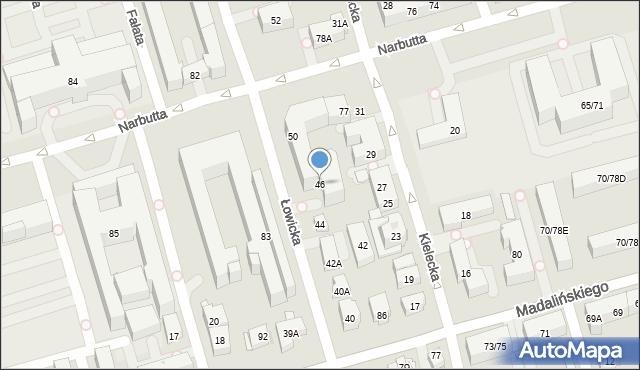 Warszawa, Łowicka, 46, mapa Warszawy