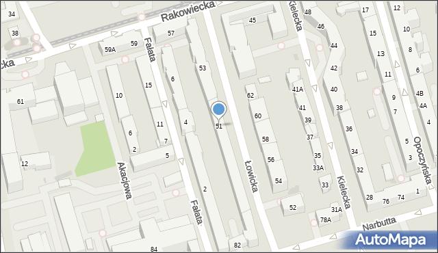 Warszawa, Łowicka, 51, mapa Warszawy